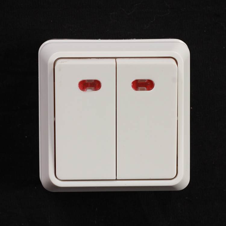 2 gang switch with light